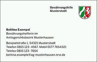 justizvollzugsanstalt geldern visitenkartenbestellung fr behrden - Muster Visitenkarten